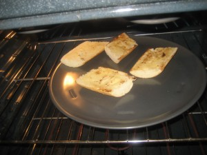 Toasting Garlic Bread