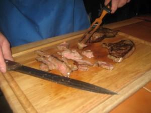 Slicing Steak 4