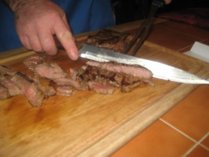 Slicing Steak