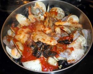 Cooking Ciopino