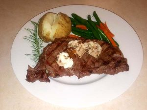 Steak with Compound Butter
