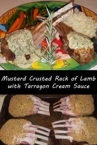 Mustard Crusted Rack of Lamb with Tarragon Cream Sauce