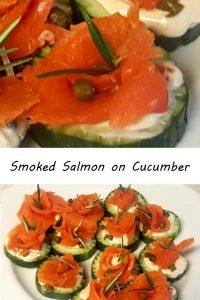 Smoked Salmon on Cucumber