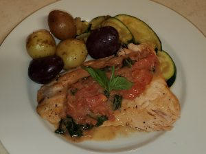 Salmon with Tomato and Basil